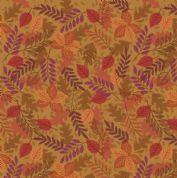 Lewis & Irene - Under The Oak Tree - 6900 - Autumn Leaves on Gold - A396.1 - Cotton Fabric